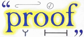Proof text and proof-mark symbols